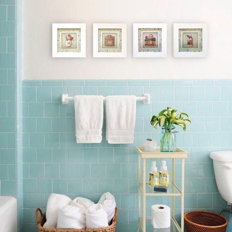 35 ideias de quadros para banheiro que vão transformar seu lar