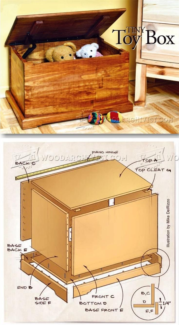 toy chest plans - wooden toys plans and projects