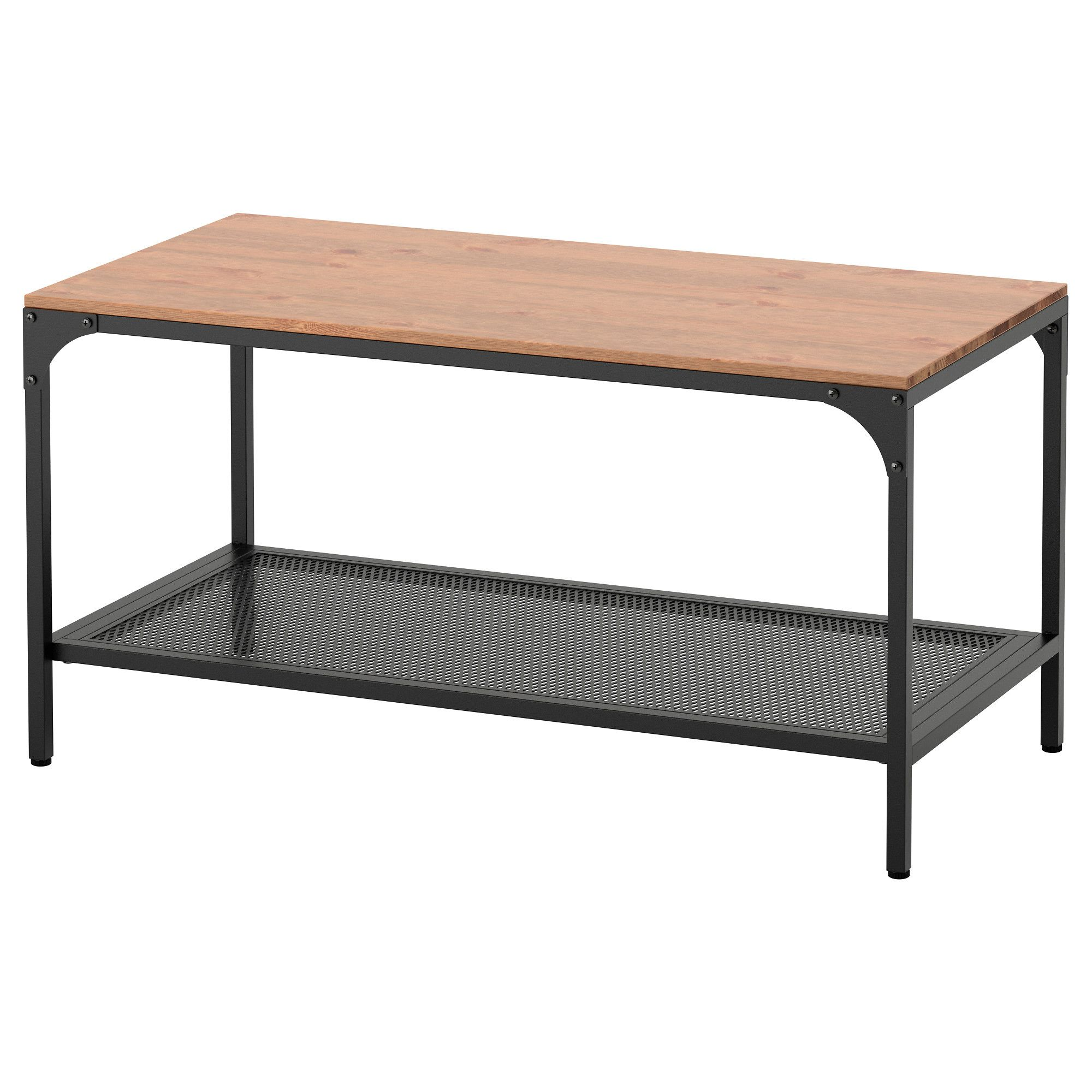 FJÄLLBO Coffee table Black 90x46 cm