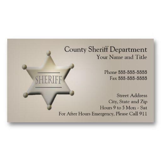 Law Enforcement Business Card Business Cards Business Law Enforcement