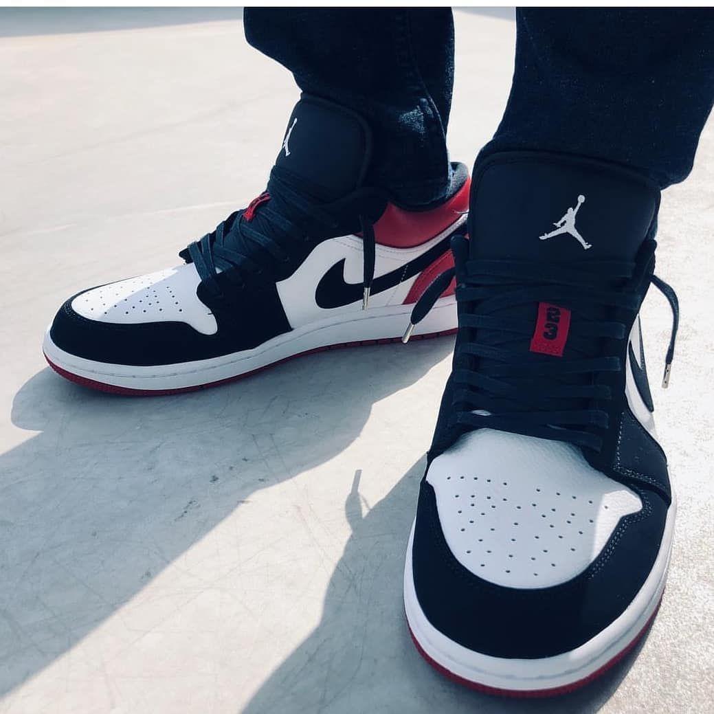 Instock Today Order Now Jordan 1 Low Black Toe Mens 8