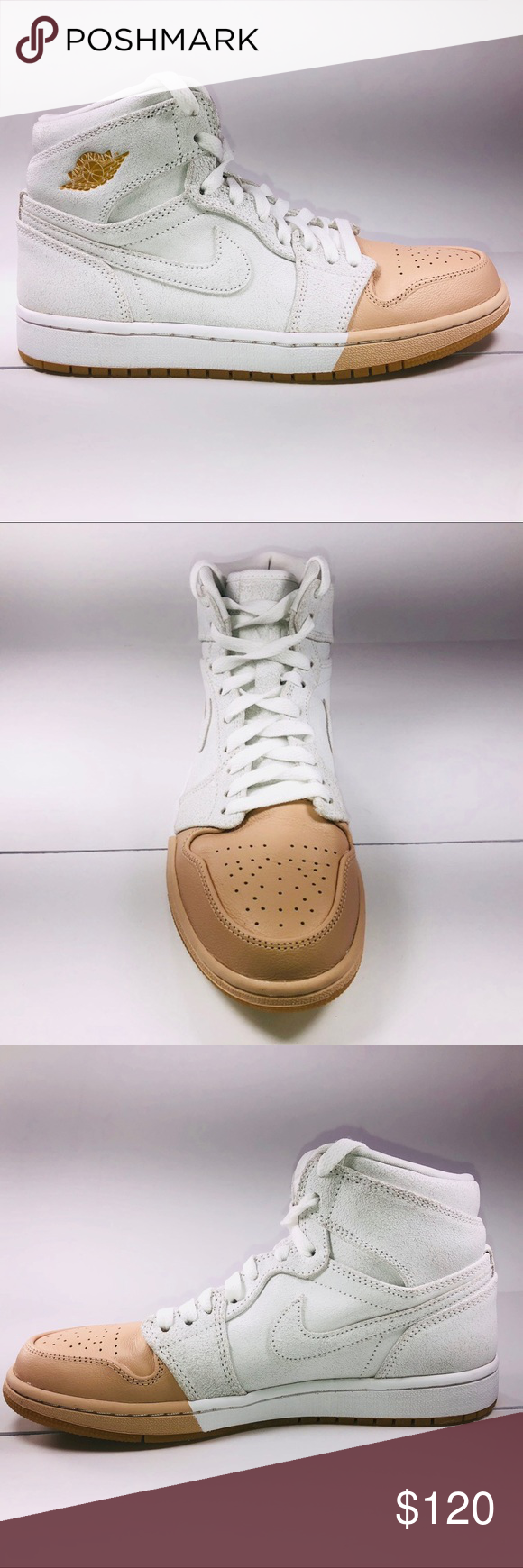 Air Jordan Retro 1 Premium Tan Toe Basketball Shoe New With Damaged Box  Missing Lid See Pictures For Details. Womens Air Jordan Retro 1 Premium Tan  Toe ... 18a60029c0