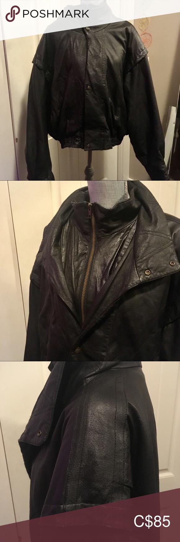 Cosa Nova vintage 80's leather jacket men's XL