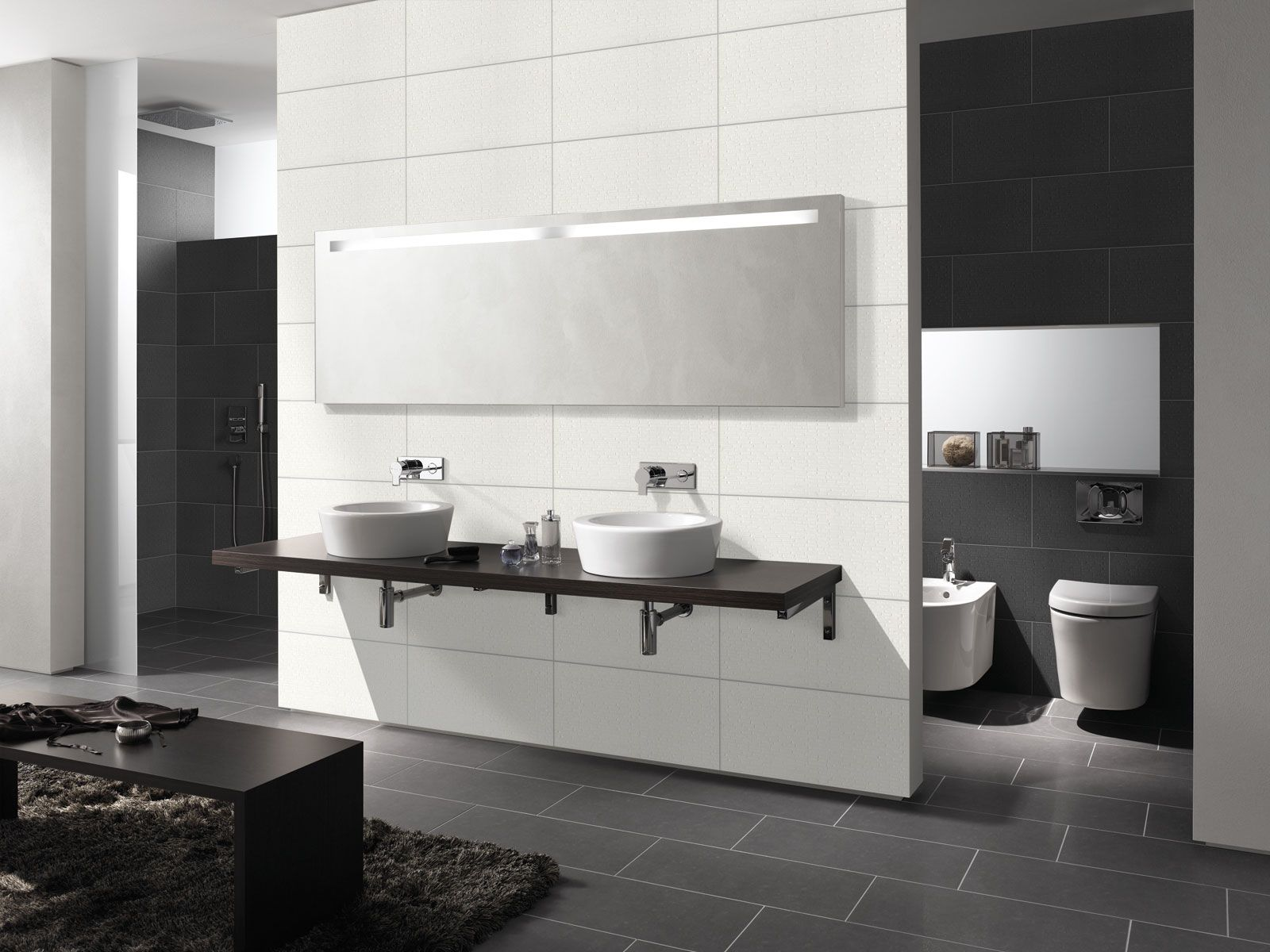 Carrelage salle de bains grès cérame Largo  Espace Aubade
