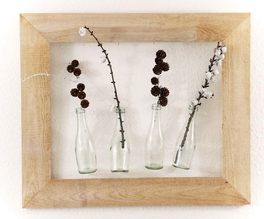 diy herbstliche deko mit flaschen f r drinnen drau en diy pinterest. Black Bedroom Furniture Sets. Home Design Ideas