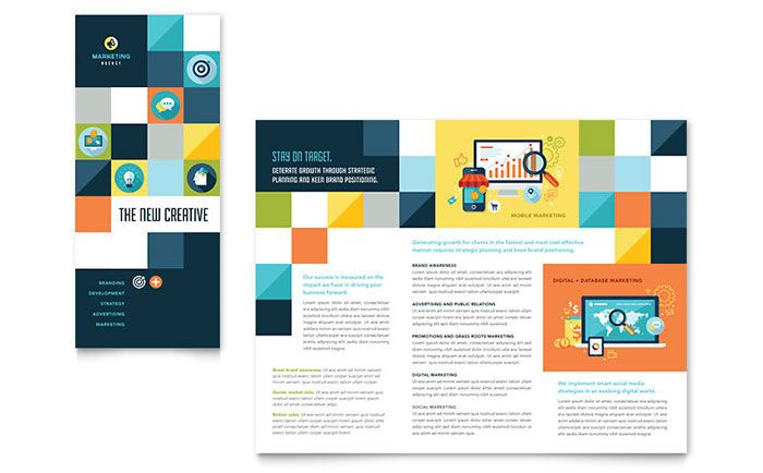 Advertising Company Tri Fold Brochure Design Template by – Tri Fold Examples