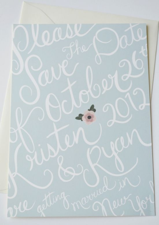 Custom Save the Dates posted by Loft Life Press