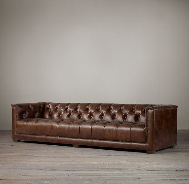 Savoy Leather Sofas   This Is Probably The Most Comfortable Couch Iu0027ve Ever  Sat. Leather RestorationRestoration HardwareLeather ...