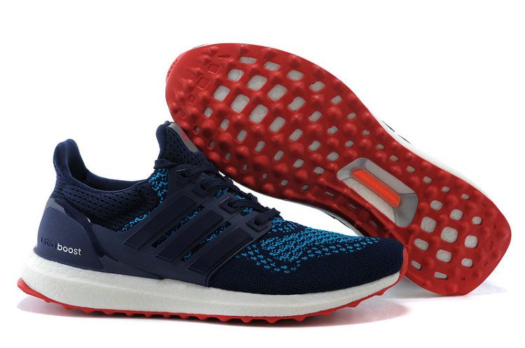 low priced 2f36d 3471e UK Trainers 2018 adidas Ultra Boost 2016 Navy Blue Turquoise Red Youth Big  Boys Sneakers