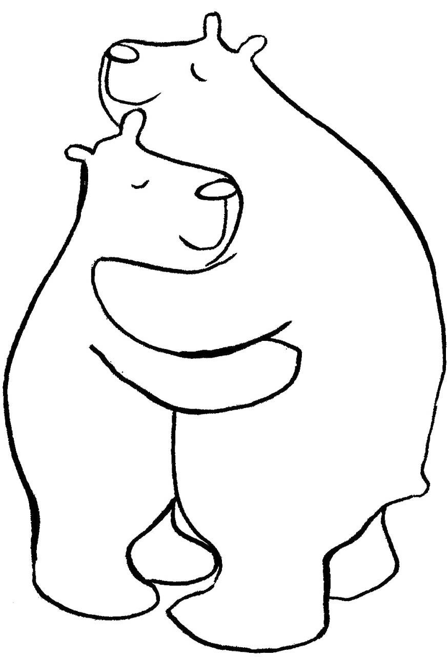 Bear Hug Coloring Page Bears Coloring Pages Embroidery