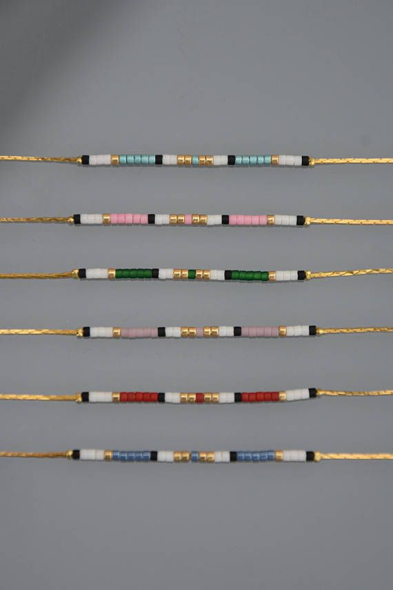 Photo of Minimalist bracelet ultra fine micro beads gold plated | Etsy