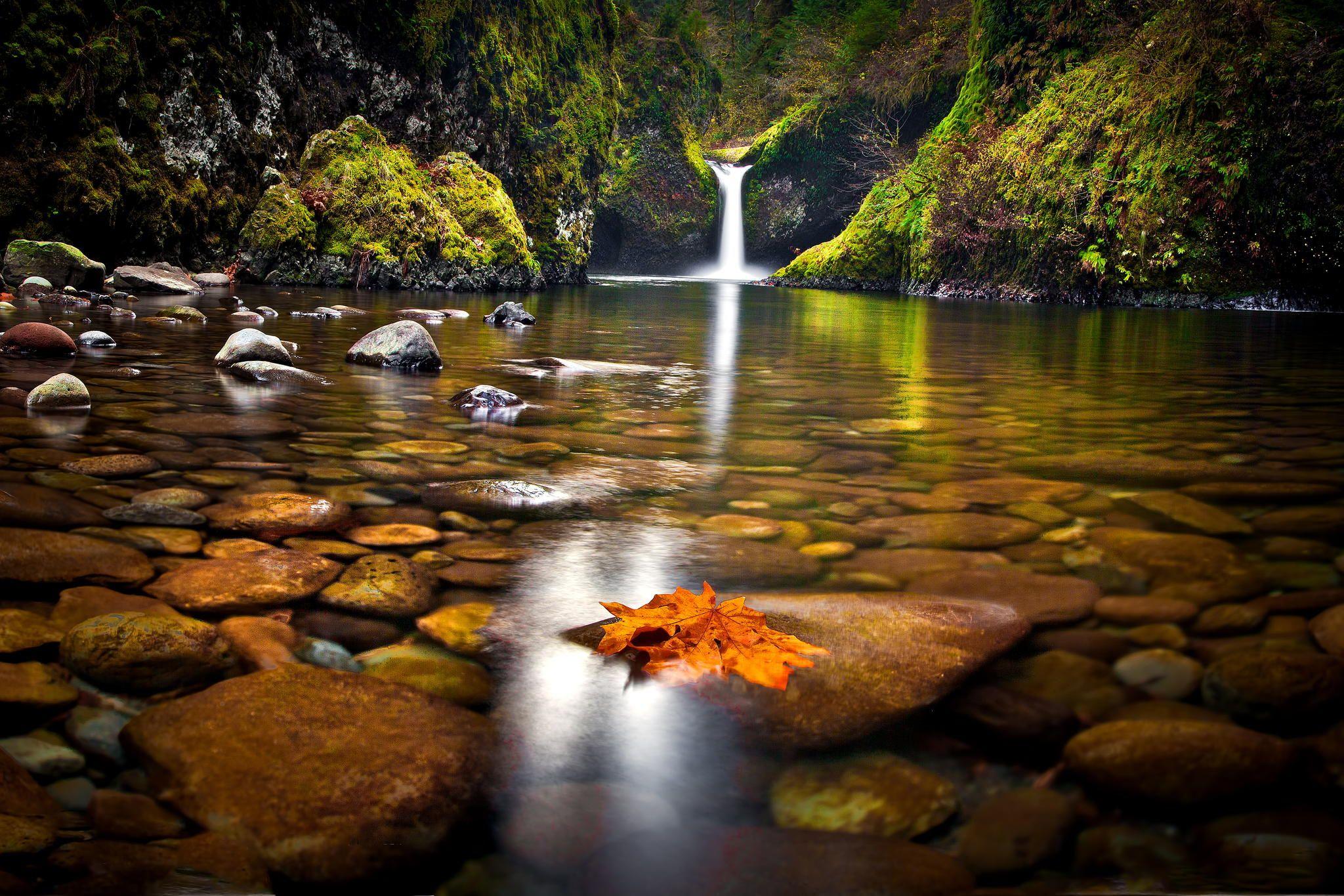 Punch Bowl Waterfalls Waterfall Wallpaper Autumn Waterfalls Waterfall Wallpaper Hd