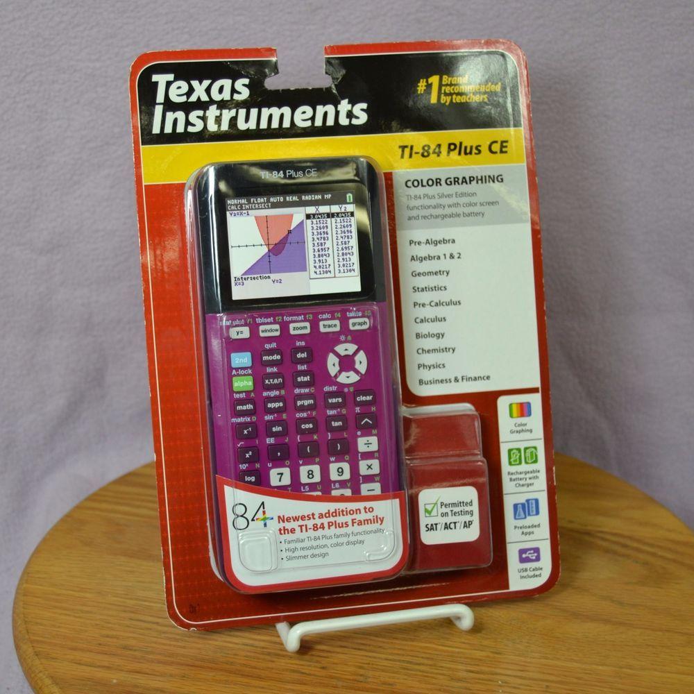 Texas Instruments TI-84 Plus CE Color Graphing Calculator Plum ...