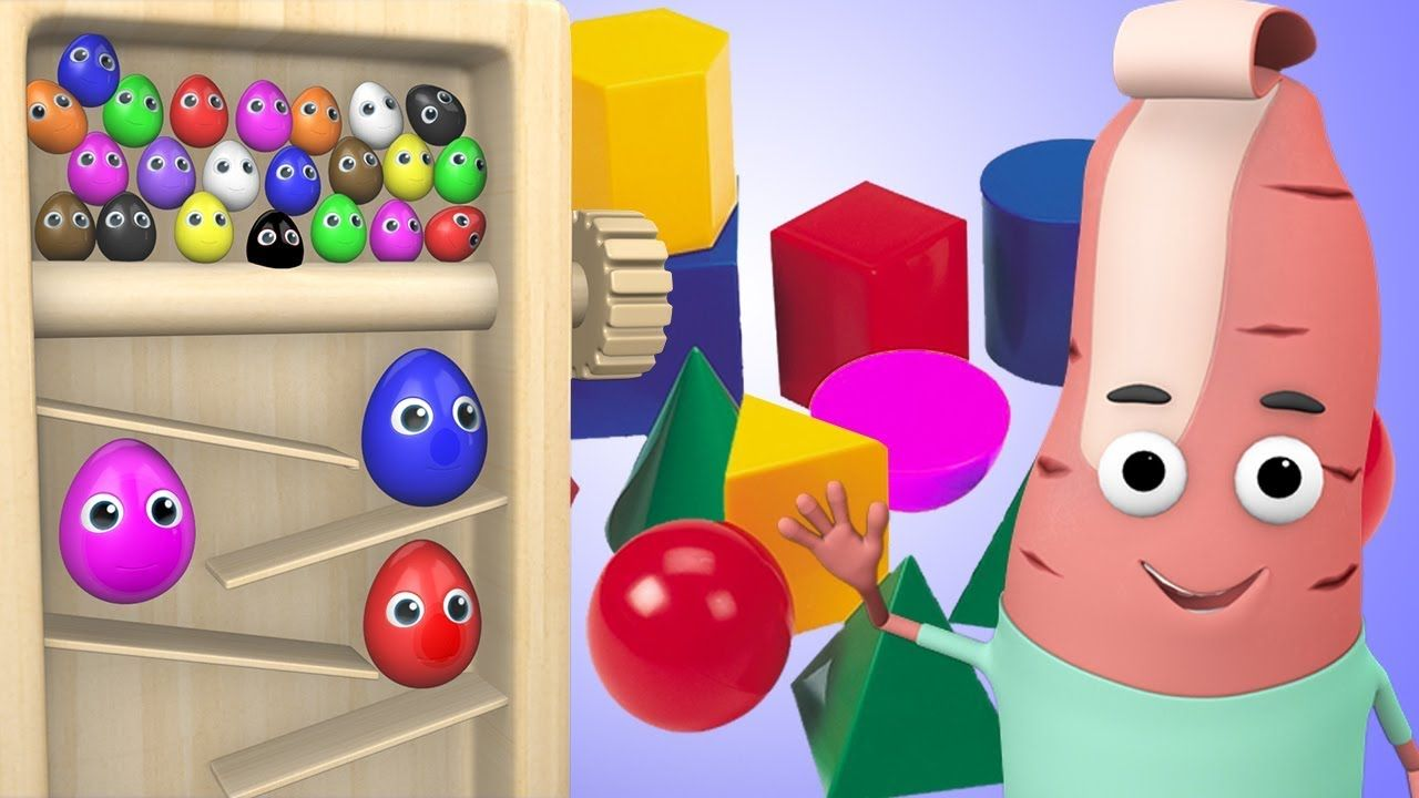 Kids Learning Shapes & Colors with Color Eggs Shapes ...