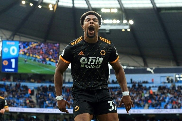 Manchester United Kingdom Afp Two Late Goals By From Wolves Adama Traore Inflicted A Stunning 2 0 Defeat On Manchester City To Leave The Premier League C