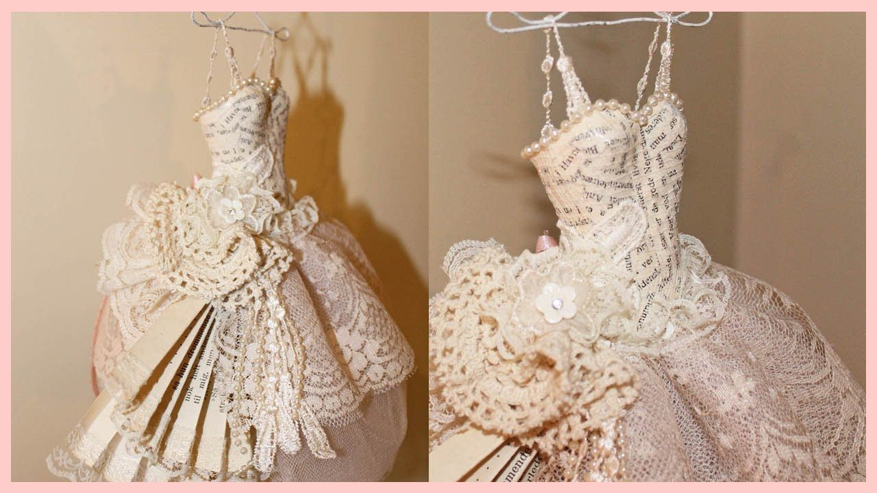 Shabby Chic Art Dress - Paper / Mache and Lace- On my two make list.  I so want to do this.