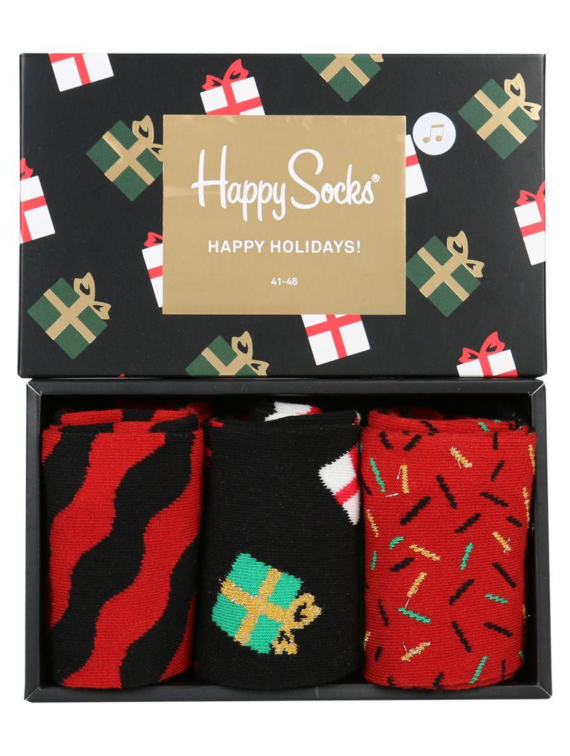 Happy Socks Christmas Giftbox Met Jingle Bells Melodie Santa