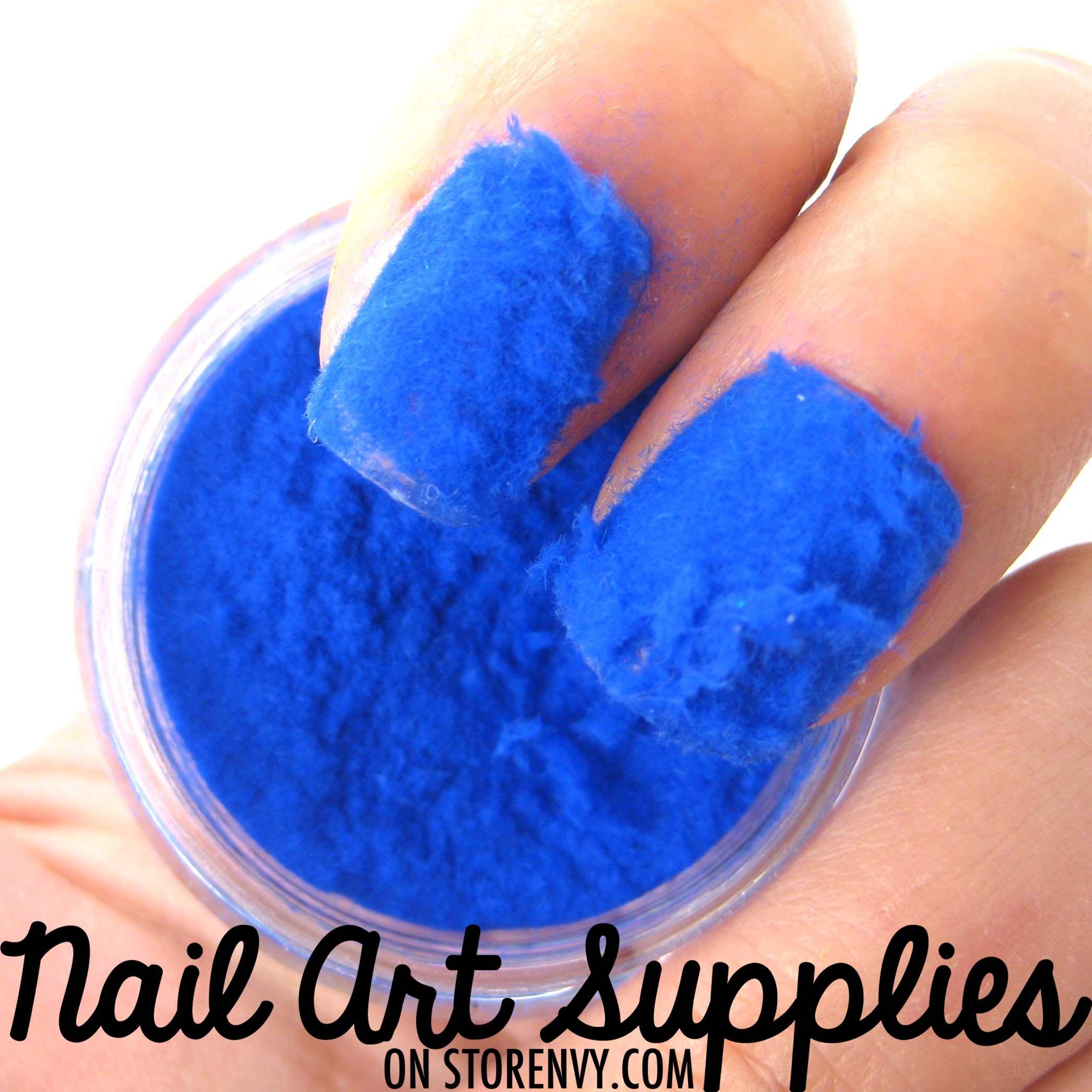 Blue Sweater Nails Furry Velvet Flocking Nail Art Powder Mix