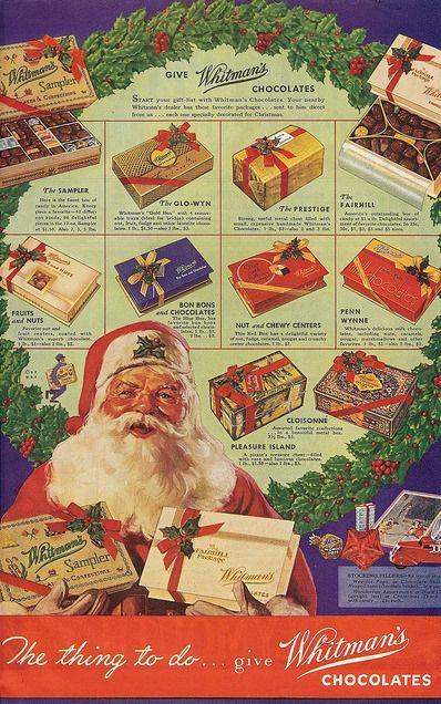 Whitman's Chocolates Christmas Ad The Saturday Evening Post