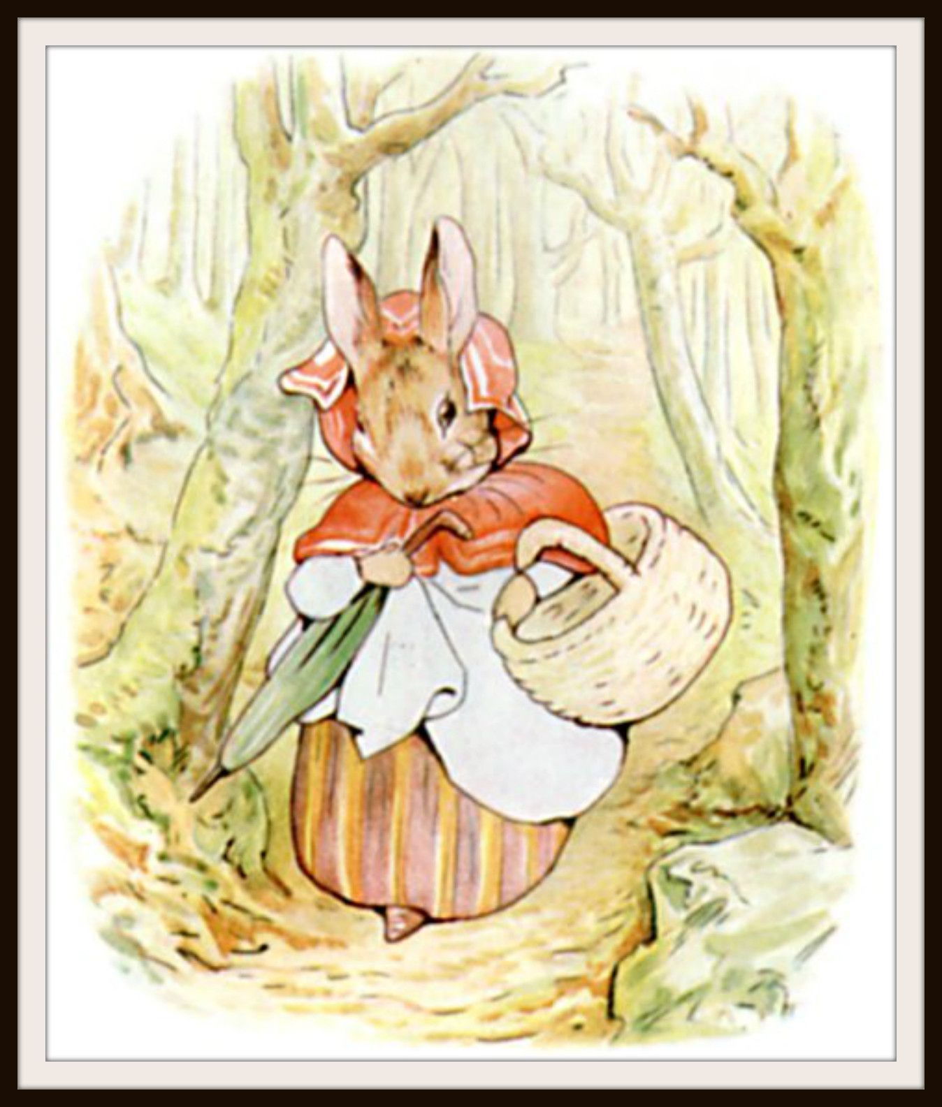 Mother Rabbit by Beatrix Potter Art Print 8 x 10\