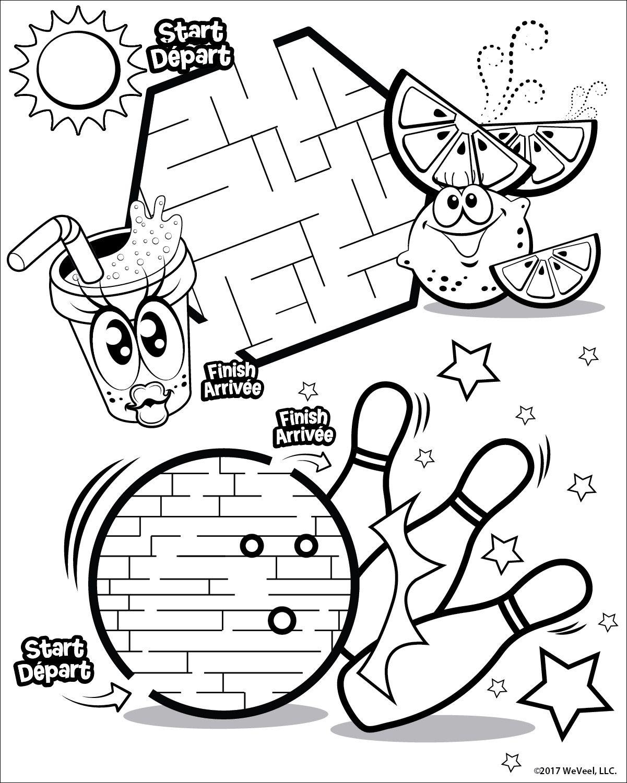 2 Mazes Including Bowling Ball Maze Free Kids Coloring Pages Cute Coloring Pages Coloring Pages Cute