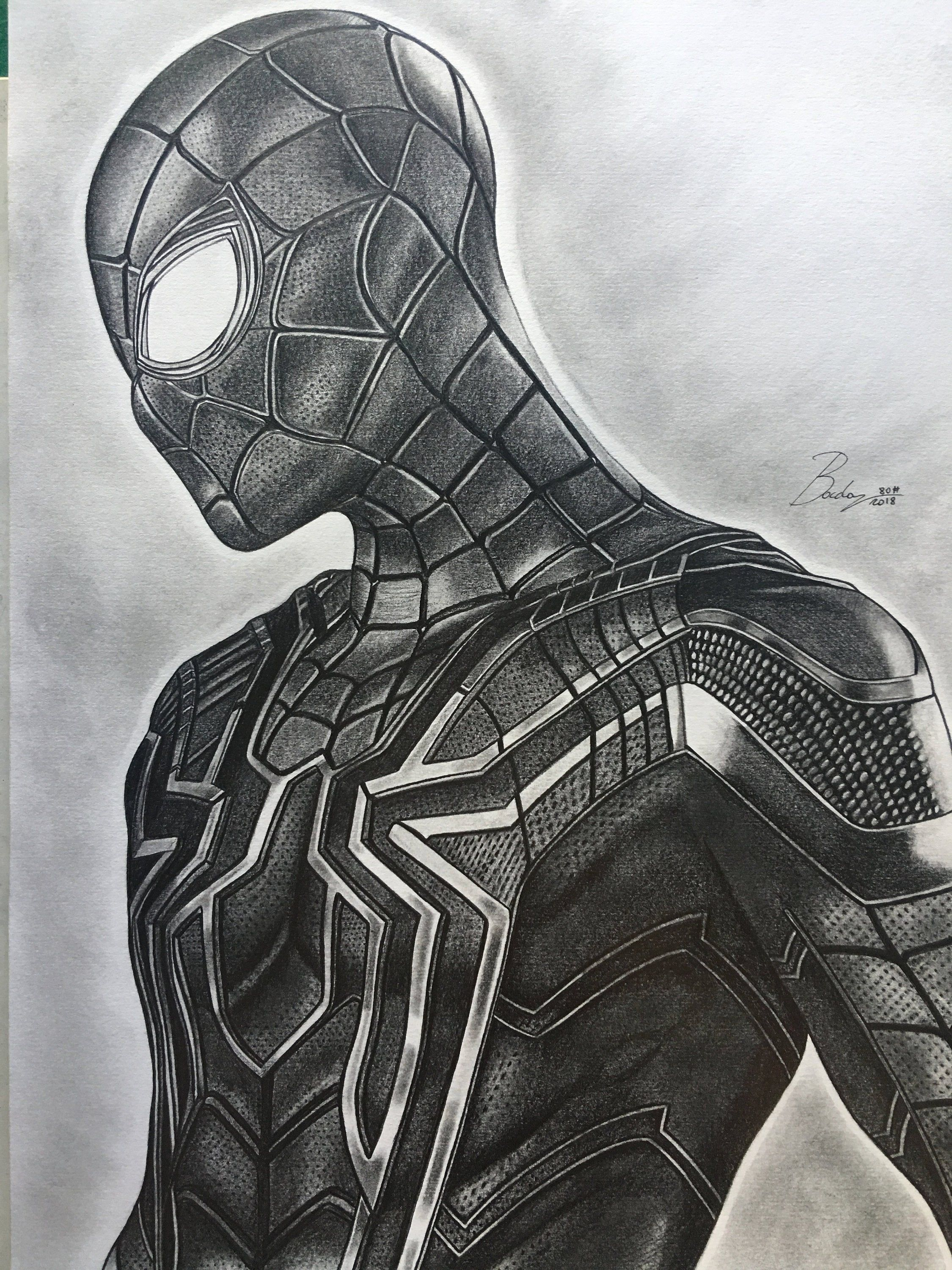 Original Portrait In Spiderman S Pencil From The Avengers Etsy In 2020 Marvel Drawings Marvel Art Drawings Drawing Superheroes