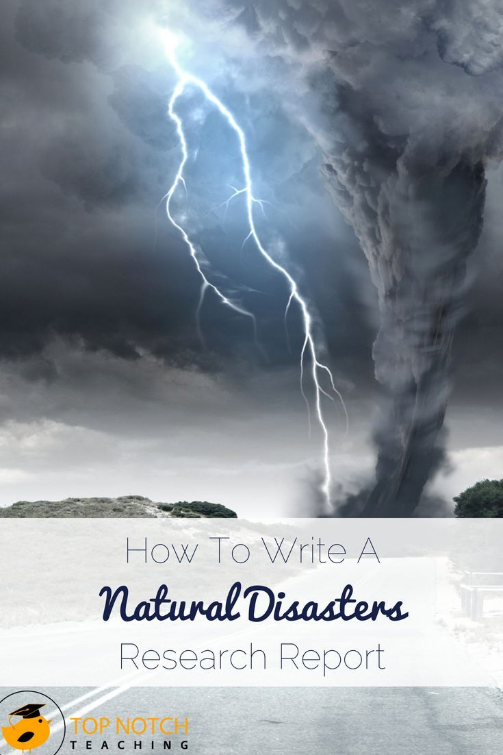 009 How To Write A Natural Disasters Research Report TpT