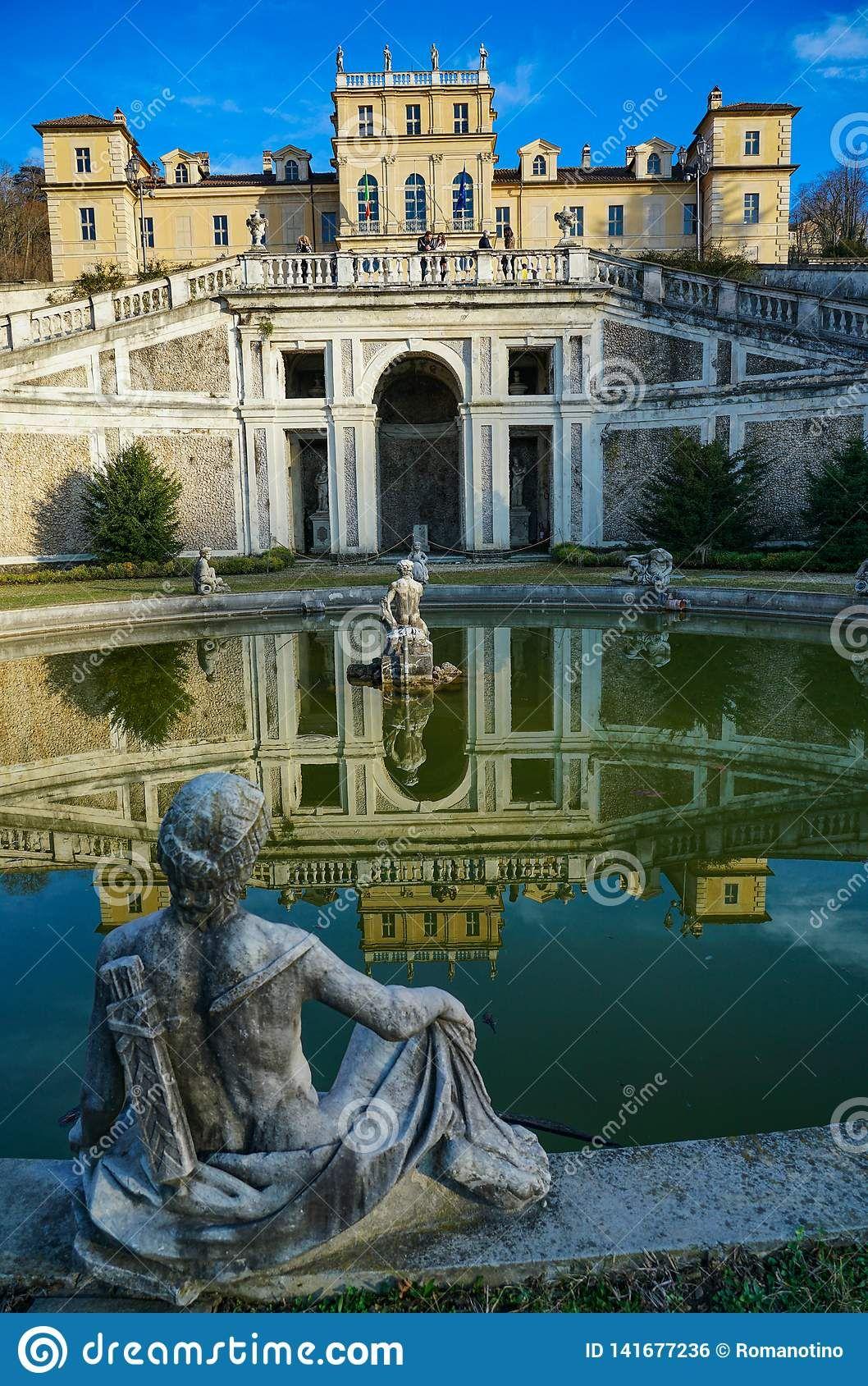 Turin, the majestic Villa della regina. Photo about