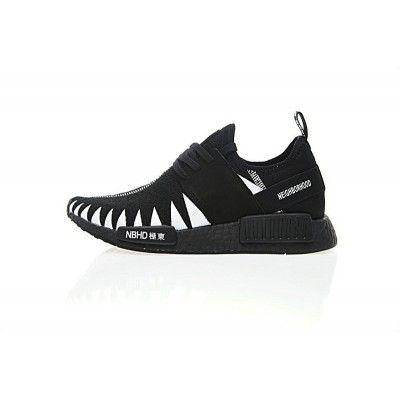 414e66fb90505 Classic Mens NEIGHBORHOOD X Adidas Originals NMD R1 PK Boost Black White  BZ0295 Trainers