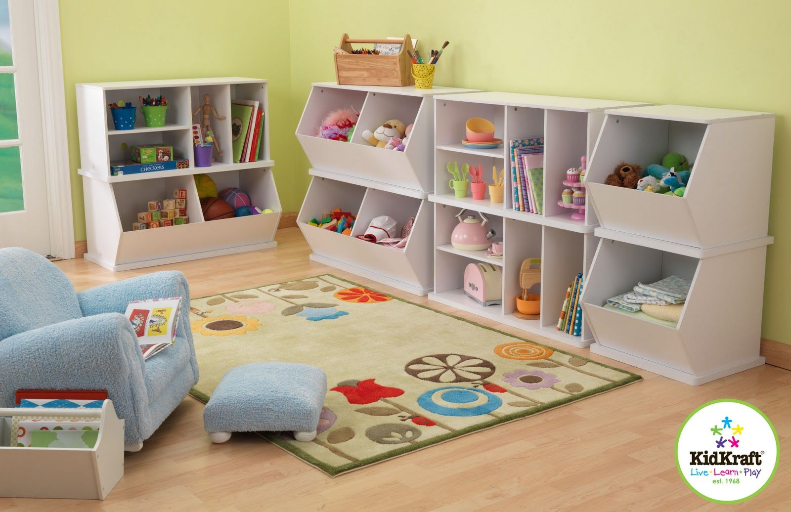 Kidkraft Wall White Storage Unit