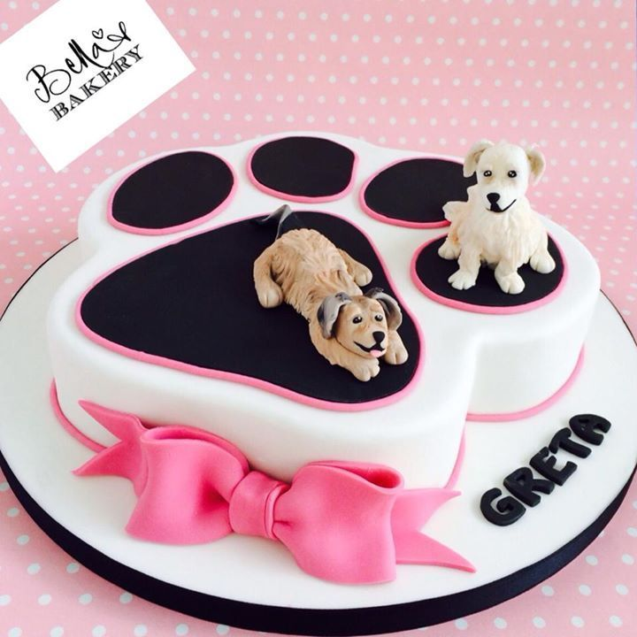 Dog Cake With Images Paw Cake Dog Cakes Animal Cakes