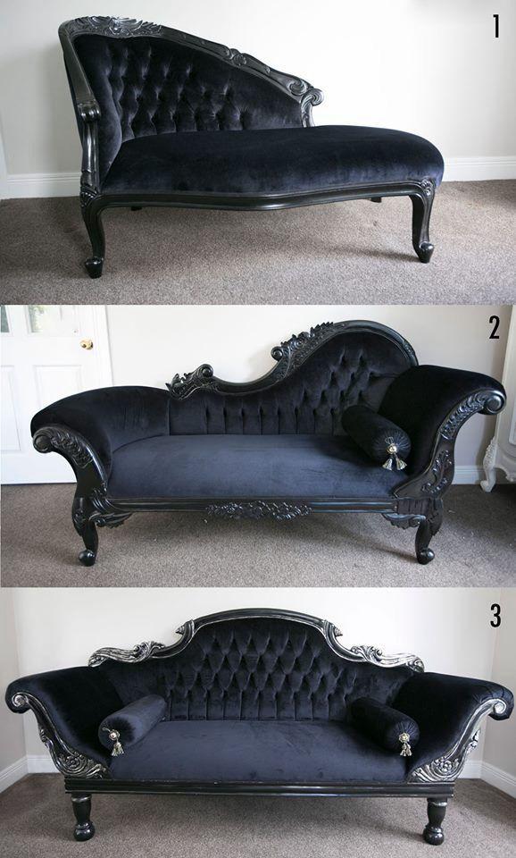 Black Chaise 1 Love Seat 2 Longue 3 Colonial Double Ended French Inspired Furniture By La Maison Boutique Lamaisonboutiqueco