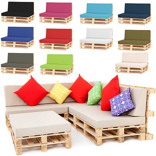 Pallet Seating Garden Furniture DIY Trendy Foam Cushions with Waterproof Covers is part of Home garden Furniture -