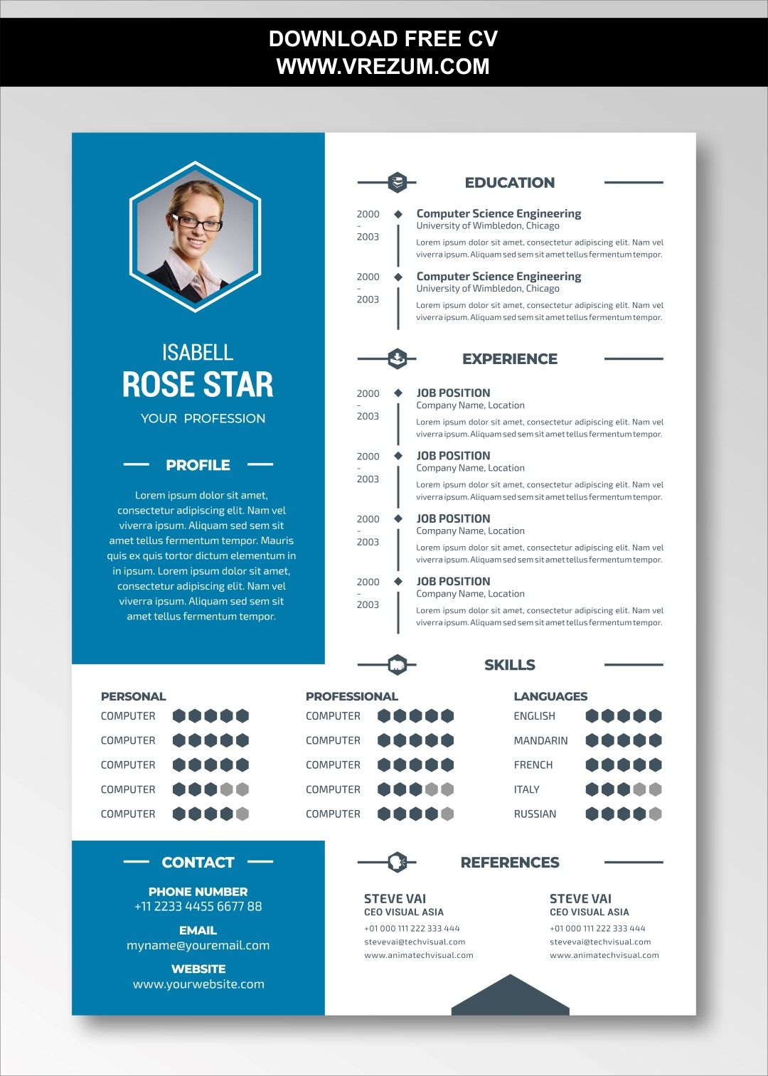 Editable free cv templates for document controller in