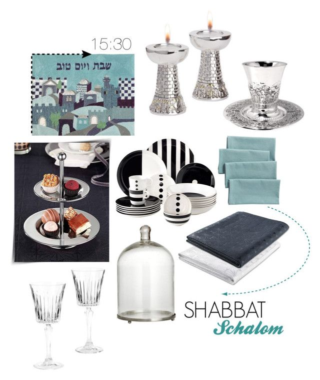 """""""SHABBAT SHALOM"""" by rachel-tulchinsky ❤ liked on Polyvore featuring interior, interiors, interior design, home, home decor, interior decorating, Thos. Baker and H&M"""