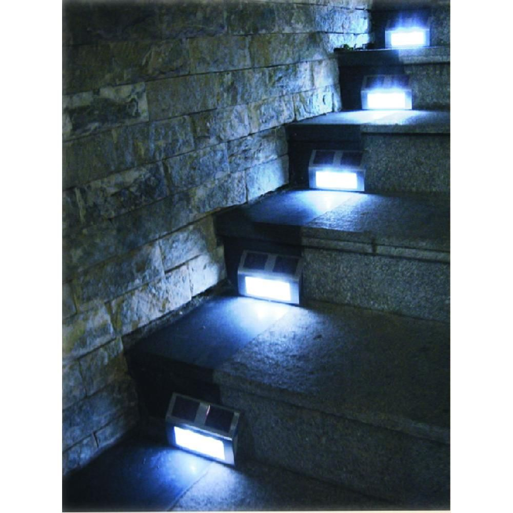 Bronze Solar Ed Step Lights