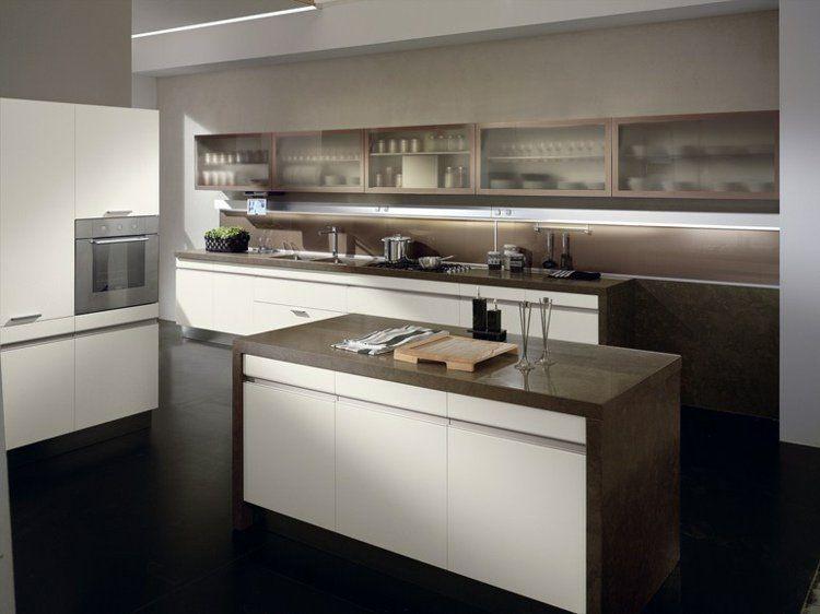 Aménager une cuisine design avec ilot central Pinterest