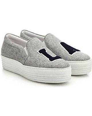 Grey Felt NY Platform Slip-On Sneakers Joshua Sanders 6YkPlpC