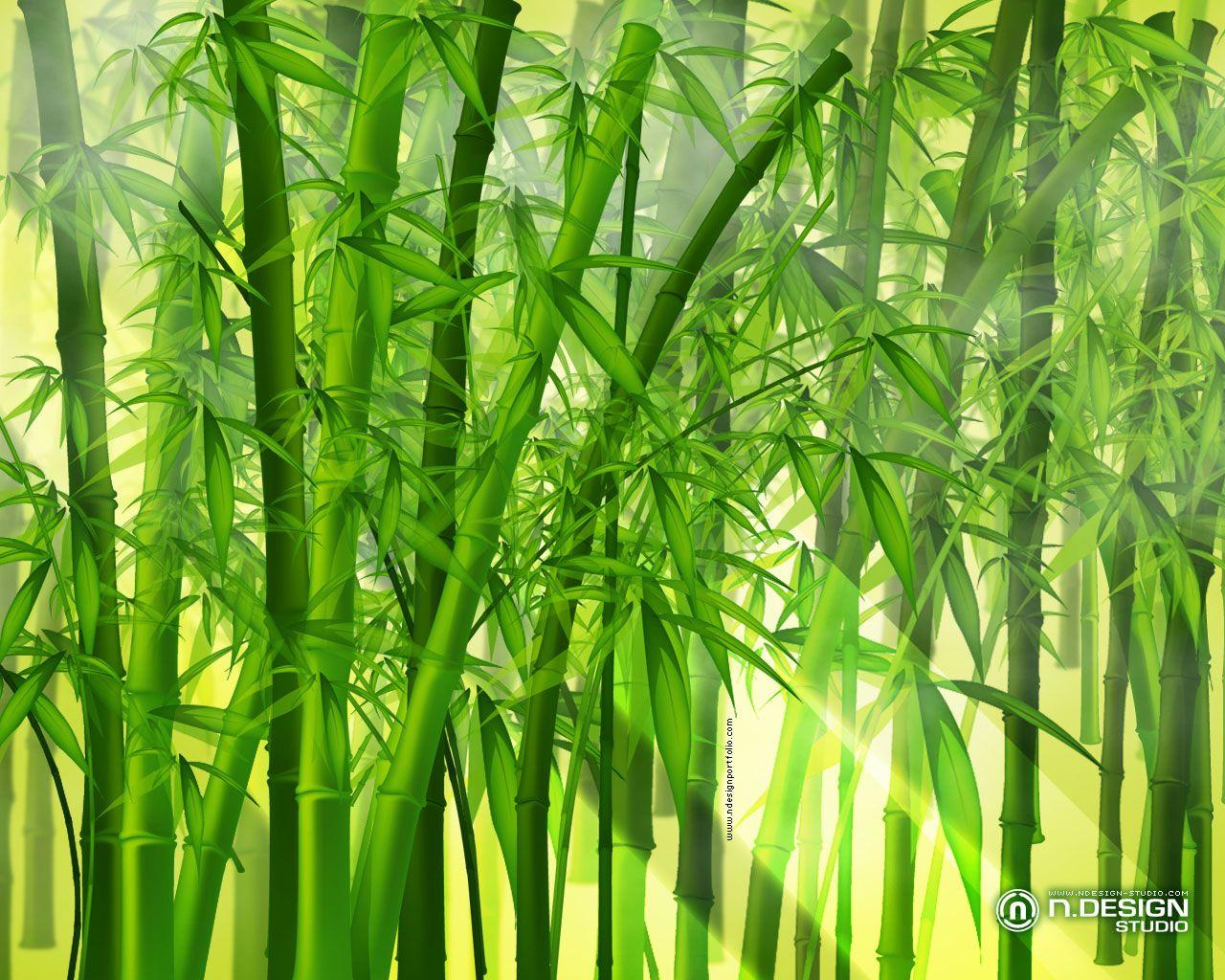 anime bamboo wallpaper design