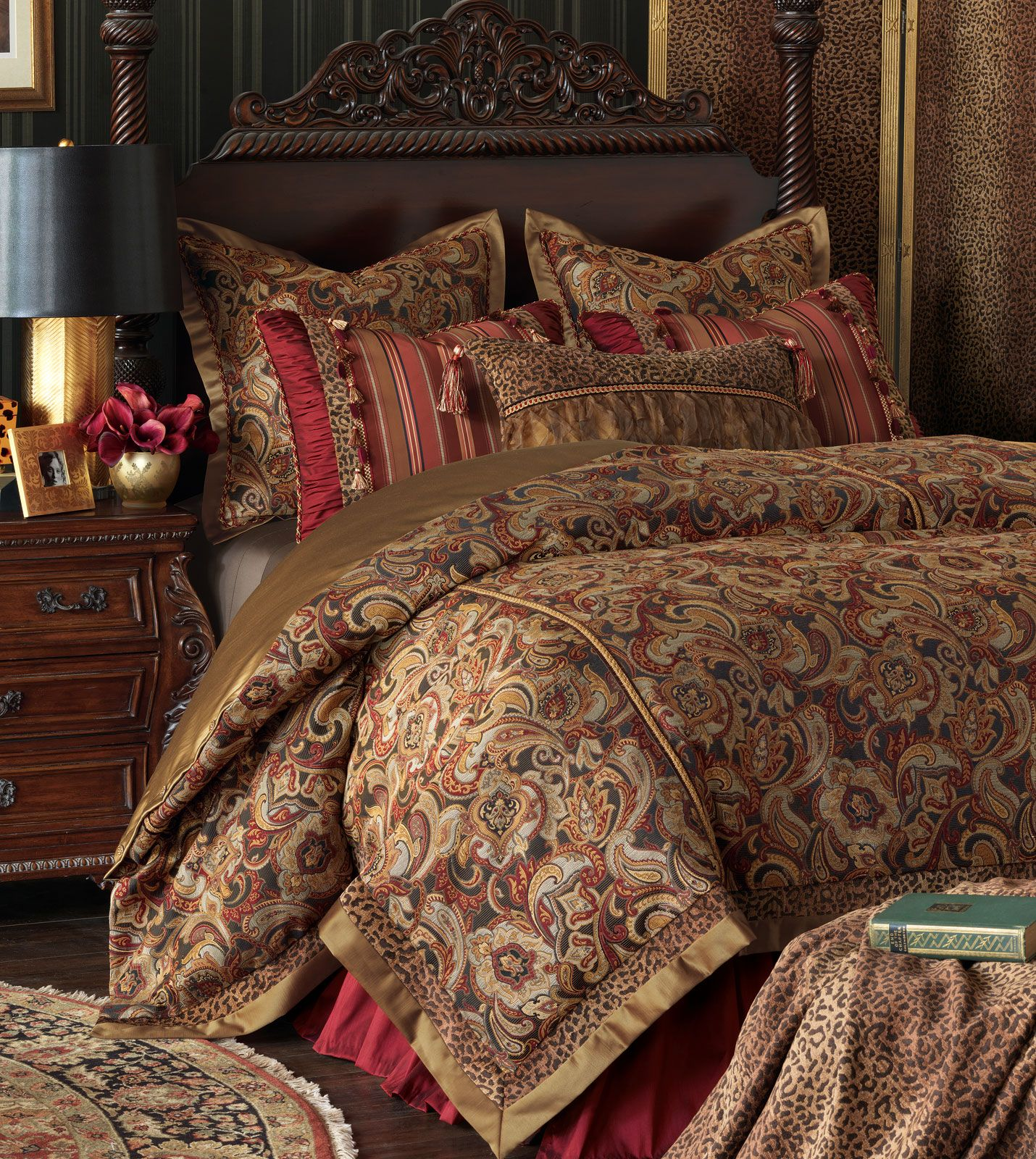 marquise luxury bedding by eastern accents raquel collection