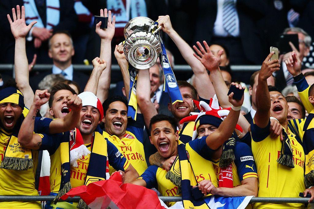 The FA Cup 2015 Champion. Arsenal 4-0 Aston Villa (May 2015)