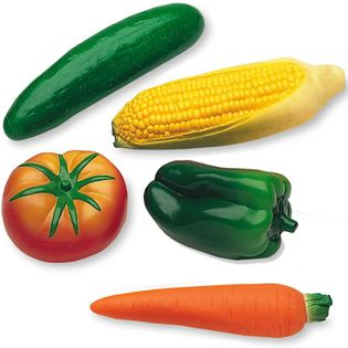 Children+love+these+vegetables+made+of+durable+soft+plastic.+Includes+cucumber,+corn,+green+pepper,+carrot+and+tomato.