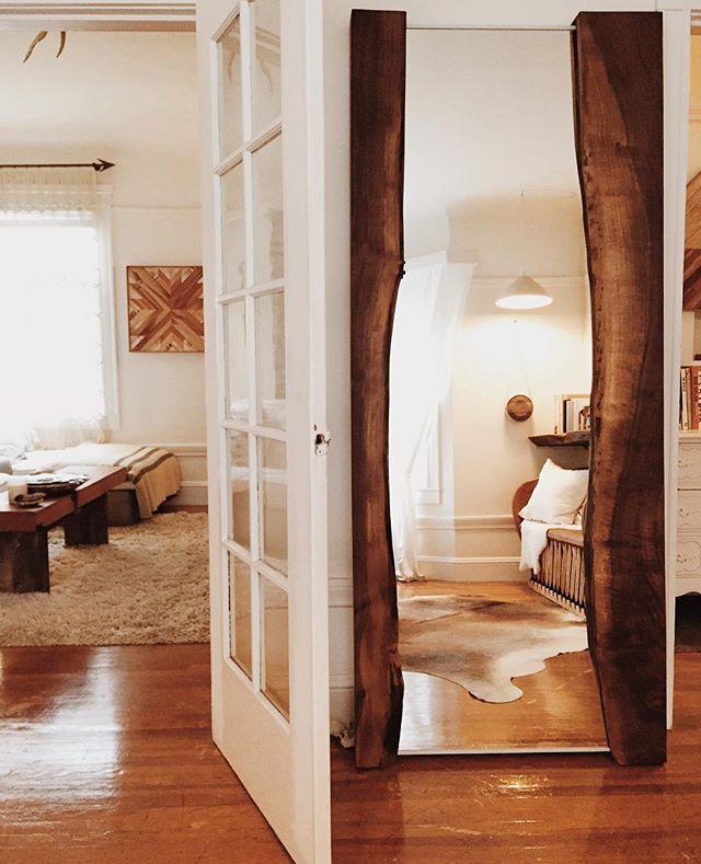 live edge walnut floor mirror - aleksandrazee | Home Inspiration ...