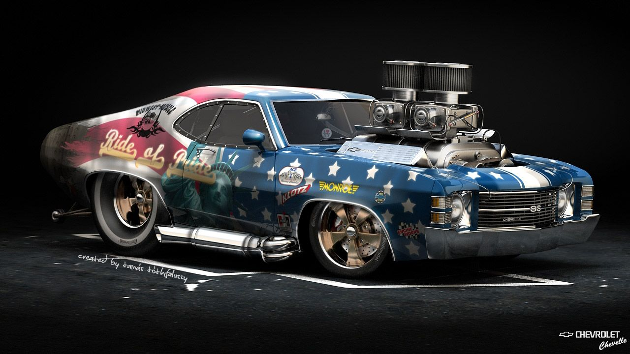 Design Artwork By Tamas Tothfalussy Muscle Cars Der