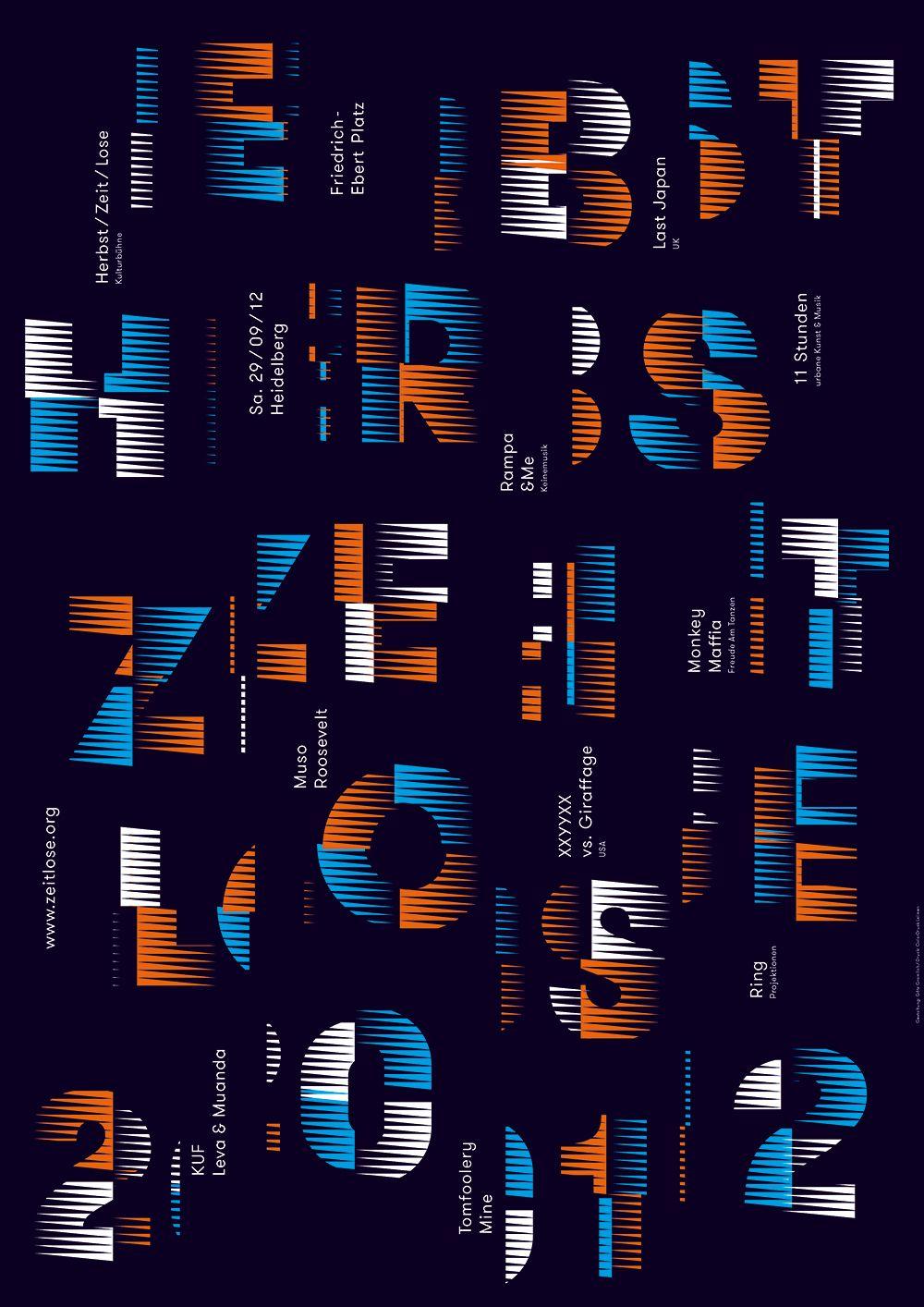 Herbstzeitlose, poster by Götz Gramlich (2012) –Type OnlyUnit Editions