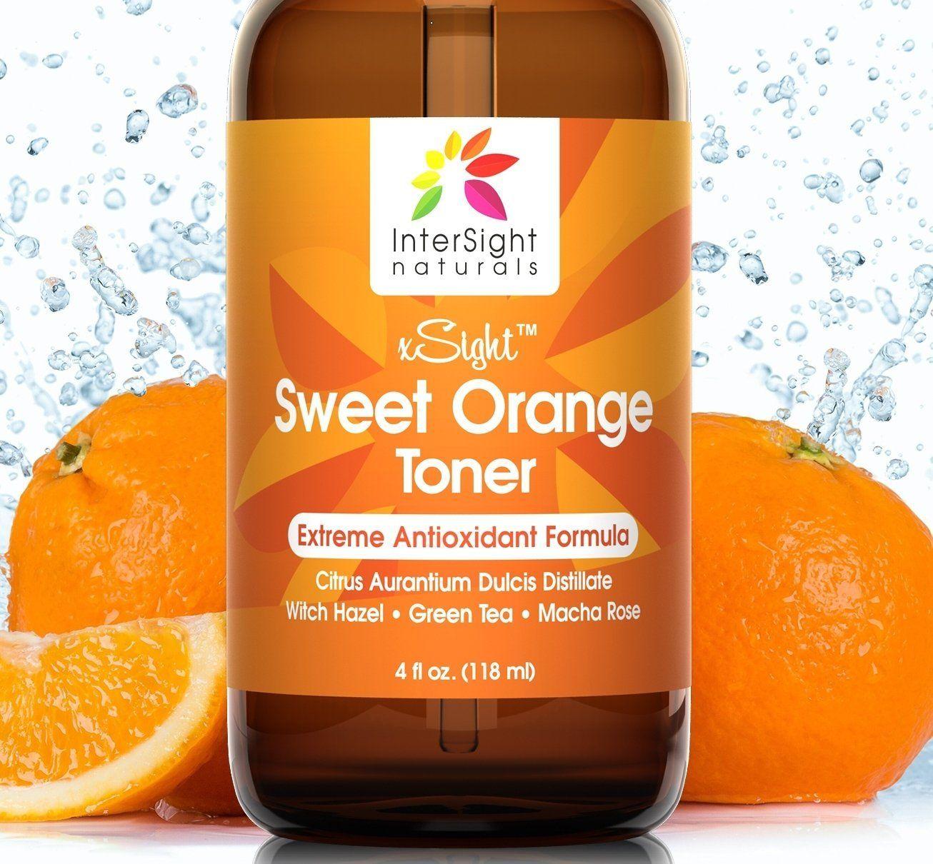 Intersight Sweet Orange Skin Toner For Face Huge 4 Oz No 1 Natural Antioxidant Facial Toner With Citrus Aurantium Dul Orange Skin Skin Toner Toner For Face
