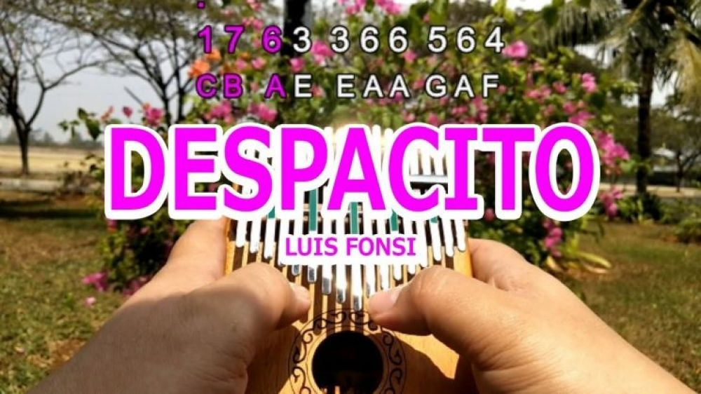 Like And Share If You Like This Despacito By Luis Fonsi Ft Daddy Yankee Kalimba Tabs Tag A Friend Who Would Love To Play This Kalimba Daddy Yankee Songs Daddy