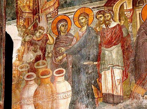 брак в кане галилейской фреска церкви св никиты в чучере