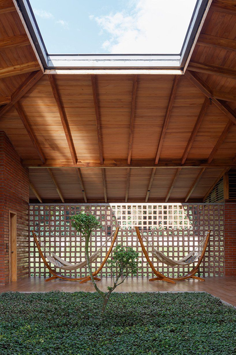natura futura's house of silence features a central