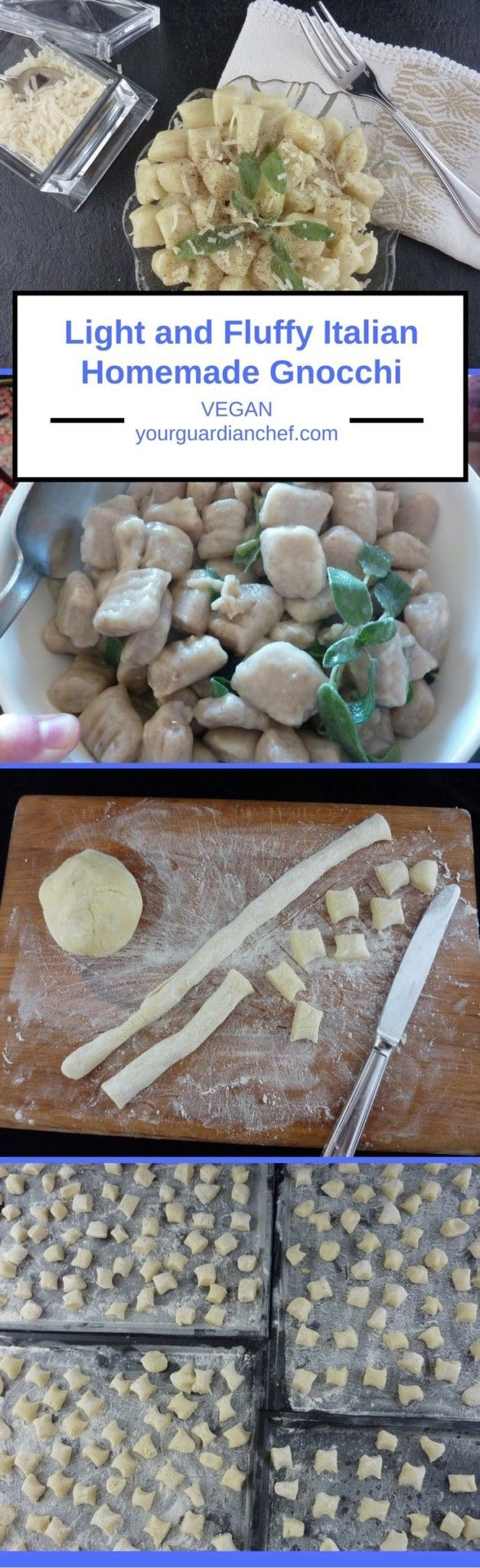 Light and Fluffy Italian Homemade Gnocchi Light and Fluffy Authentic Italian Homemade Gnocchi Vegan step by step - Your Guardian Chef   @YGuardianChef